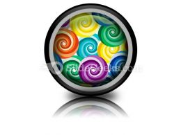 Seamless Vivid Swirl Pattern PowerPoint Icon Cc