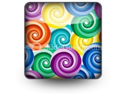 Seamless Vivid Swirl Pattern PowerPoint Icon S