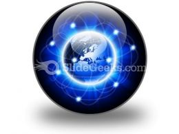 Social Network Abstract PowerPoint Icon C