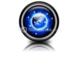 Social Network Abstract PowerPoint Icon Cc