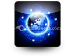 Social Network Abstract PowerPoint Icon S