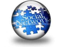 Social Network PowerPoint Icon C