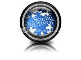 Social Network PowerPoint Icon Cc  Presentation Themes and Graphics Slide01
