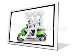 Team On The Scooter PowerPoint Icon F