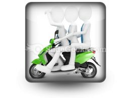 Team On The Scooter PowerPoint Icon S