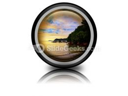 Tropical Sunset Ppt Icon For Ppt Templates And Slides Cc