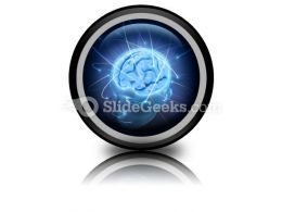 Vivid Brain PowerPoint Icon Cc