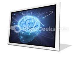 Vivid Brain PowerPoint Icon F