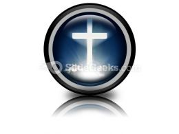 White Cross In Sky PowerPoint Icon Cc