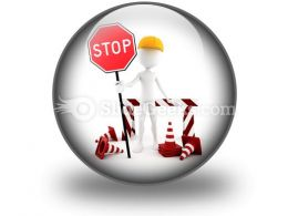 Worker Stop PowerPoint Icon C