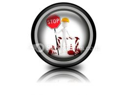 Worker Stop PowerPoint Icon Cc