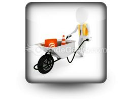 Worker Works Construction PowerPoint Icon S