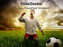 A Soccer Player Sports PowerPoint Templates And PowerPoint Backgrounds 0211
