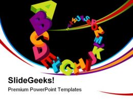 A To Z Alphabets Education PowerPoint Templates And PowerPoint Backgrounds 0611