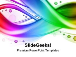 Abstract Rainbow Beauty PowerPoint Template 0910