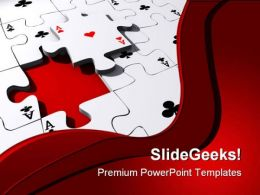 Aces Puzzle Shapes PowerPoint Templates And PowerPoint Backgrounds 0511