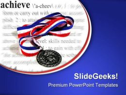 Achieve Medal Success PowerPoint Templates And PowerPoint Backgrounds 0711