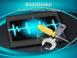 Adjusting System Performance Computers PowerPoint Backgrounds And Templates 1210