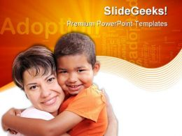 Adoptive Child Family PowerPoint Templates And PowerPoint Backgrounds 0511
