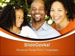 African American Family PowerPoint Templates And PowerPoint Backgrounds 0411