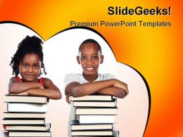 African Children Education PowerPoint Template 1010