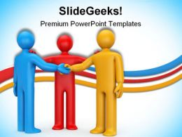 Agreement With Intermediary Business PowerPoint Templates And PowerPoint Backgrounds 0611