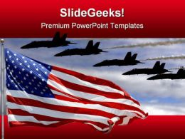 Airforce Americana PowerPoint Template 1010