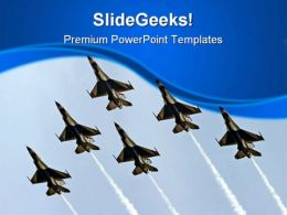 Airforce Thunder Birds Travel PowerPoint Templates And PowerPoint Backgrounds 0411