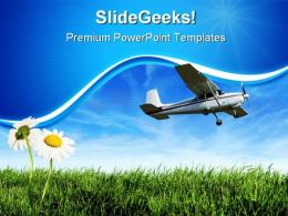 Airplane Travel PowerPoint Templates And PowerPoint Backgrounds 0411