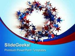 All Around American Star Americana PowerPoint Background And Template 1210