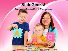 Alphabets01 Education PowerPoint Template 0810