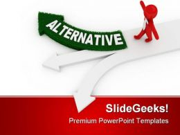 Alternative Way Leadership PowerPoint Templates And PowerPoint Backgrounds 0111