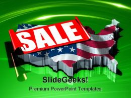 America On Sale Americana PowerPoint Templates And PowerPoint Backgrounds 0411