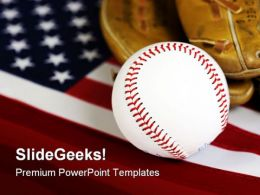 American Baseball Sports PowerPoint Template 1010