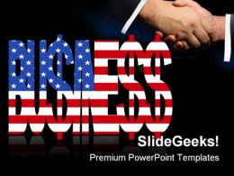 American Business Handshake PowerPoint Templates And PowerPoint Backgrounds 0411