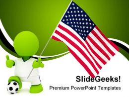 American Soccer Sports PowerPoint Templates And PowerPoint Backgrounds 0311