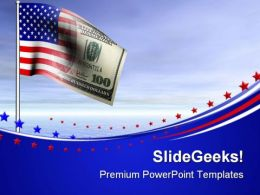 American Us Dollar Flag Money PowerPoint Templates And PowerPoint Backgrounds 0611