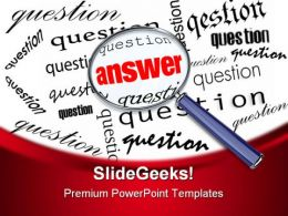 Answer Business PowerPoint Template 0810