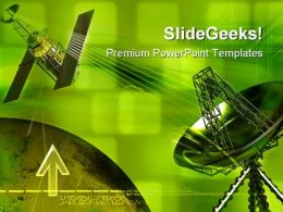 Antenna With Satellite Technology PowerPoint Templates And PowerPoint Backgrounds 0211