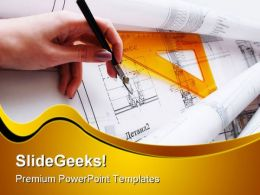 Architectural Desk Construction PowerPoint Templates And PowerPoint Backgrounds 0211