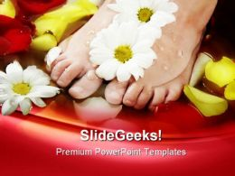 Aromatherapy Flowers With Feet Nature PowerPoint Templates And PowerPoint Backgrounds 0311