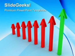 Arrow Indicating Profit Success PowerPoint Templates And PowerPoint Backgrounds 0511
