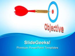 Arrow On Objective Success PowerPoint Templates And PowerPoint Backgrounds 0811