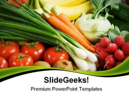 Assortment Of Fresh Vegetables Food PowerPoint Templates And PowerPoint Backgrounds 0311