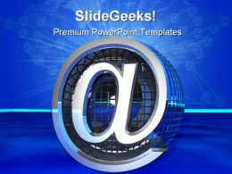 At Symbol Internet PowerPoint Templates And PowerPoint Backgrounds 0311