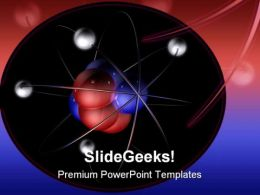 Atom Science PowerPoint Template 0610