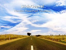 Australian Road Travel PowerPoint Templates And PowerPoint Backgrounds 0811
