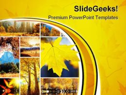 Autumn Collage Nature PowerPoint Templates And PowerPoint Backgrounds 0811