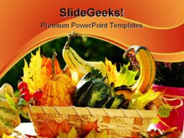 Autumn Garden Still Life Food PowerPoint Templates And PowerPoint Backgrounds 0211