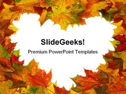 Autumn Heart Nature PowerPoint Templates And PowerPoint Backgrounds 0211